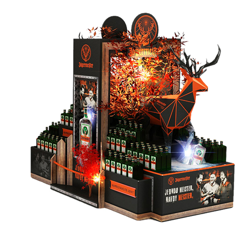 Jagermeister-autumn-promotion-POPAI-AWARDS-2018-Beveragepallet-Dispaly-Mass-Market-SILVER-niestandardy