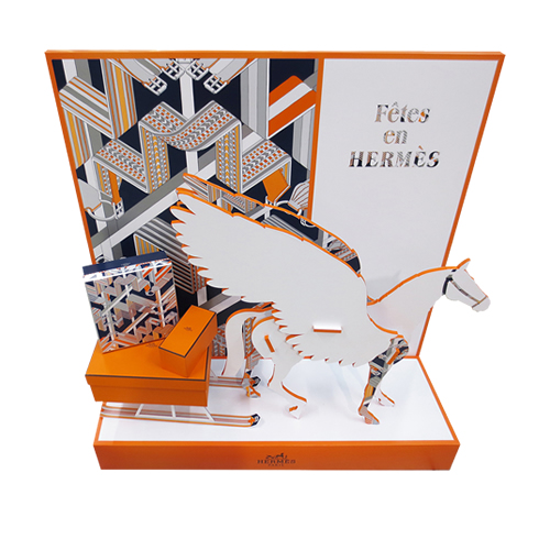 PARFUMS HERMÈS-POPAI-AWARDS-2018-Cardboard-performance-Counter-display-GOLD-niestandardy